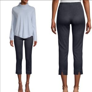 Piazza Sempione Audrey cropped straight navy pants